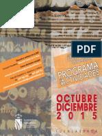 Programación de Actividades - JMD Vivero, Hospital, Universidad