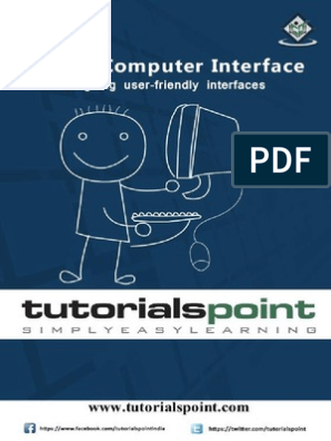 Human Computer Interface Tutorial | Human–Computer Interaction
