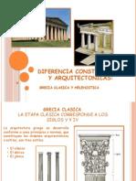Diferencia Constructivas y Arquitectonicas Grecia Clasik