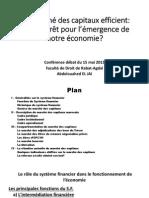 Un Marché des capitaux efficient quel intéret pour l'Eco du MAR.pdf