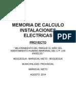 Memoria de Calculo Instalaciones Electricas