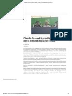 16 - 09 - 15 Claudia Pavlovich preside desfile militar por la independecia de México