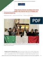 16 - 09 - 15 Encabezó Claudia Pavlovich celebración por el 205 aniversario del inicio de la guerra de independencia