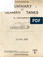Summary of German Tanks in Photographs