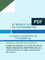El Modelo Geometrico en Fotogrametrico HOY (1)