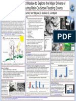 An Excel Based Module to Explore the Major Drivers of Snowmelt During Rain-On-Snow Flooding Events_Poster