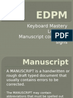 Keyboard Mastery - Lesson 3 - Manuscript correction signs.pptx