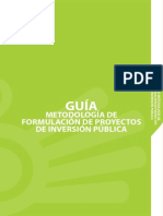 Guia Metodologica de Formulacion de Proyectos de Inversion Publica