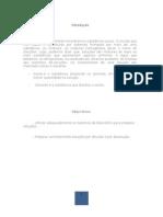 Pre-Relatório de química experimental