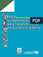 Manual de Lineamientos Tecnicos Para La Intervencion Judicial Ante La Jurisdiccion de Familia