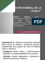 Definicion Nominal de Logica