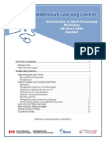 Word 2000 word processing document