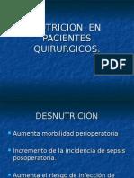 NUTRICION  PACIENTES QUIRURGICOS