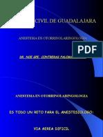 Anestesia en ORL