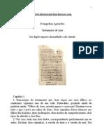 Evangelhos Apócrifos - Testamento de Aser