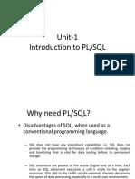 Unit-1 Introduction to PLSQL