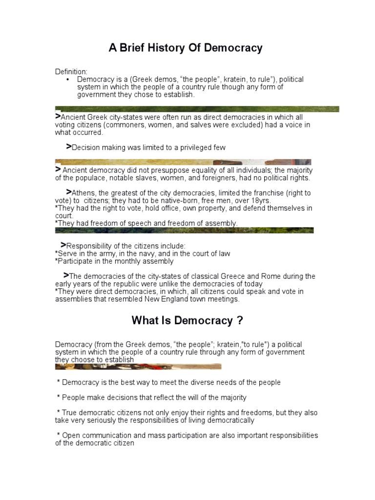 a brief history of democracy 3 | citizenship | democracy