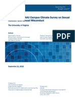 University of Virginia Campus Climate Survey Results