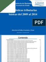 ESTADISTICAS TRIBUTARIAS 2014 EL SALVADOR