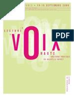 Actes Lecture Voix Haute Roubaix