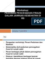 Draf Pedoman Pencegahan Fraud Di RS
