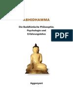 Abhidhamma - Die Buddhistische Philosophie, Psychologie Und Erfahrungslehre