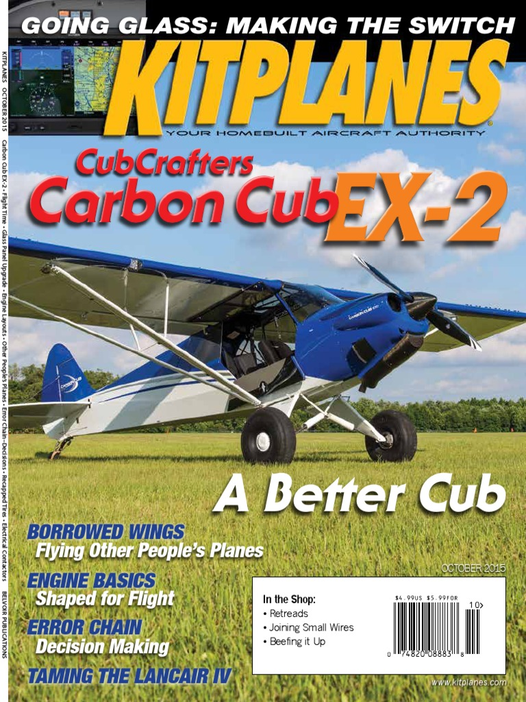 Kitplanes October 2015 Stall Fluid Mechanics Glider Sailplane 1865 Cub Tractor Wiring Diagram