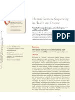 Human Genome Sequencing in Health and Disease
