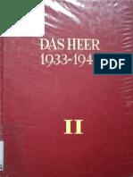 Das Heer 1933-1945 - Entwicklung des Organisatorischen Aufbaus - Band 2 - Die Blitzfeldzuege 1939-1941