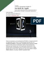La Revolución Táctil de Apple