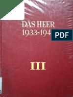 Das Heer 1933-1945 - Entwicklung des Organisatorischen Aufbaus - Band 3 - Der Zweifrontenkrieg