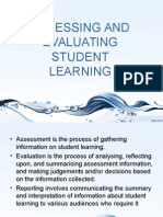 Assessing and Evaluatig Students Learning