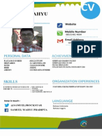contoh cv poster