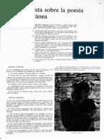 Una Encuesta Sobre La Poesía Contemporánea