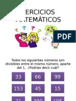 EJERCICIOS matematicos