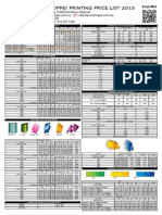 Printshoppe Price List