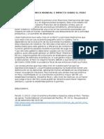 Crisis Economica Mundial e Impacto Sobre El Peru