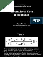 (1) Terbentuknya Kota Di Indonesia