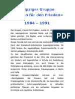 1984-1991 Frauen fuer den Frieden - Leipzig