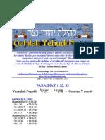 Parashat Vayaqel-Pequdei Adul # 22, 23 5770