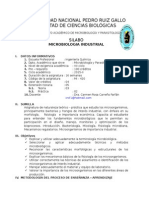 Silabo 2015-II MICROBIOLOGIA Industrial Quimica