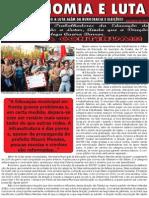 Trabalhadoras e Trabalhadores da Educação de Cuiabá Continuarão a Lutar, ainda que a Direção Pelega Queira Barra. A Luta Continua!!!
