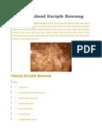 Cara Membuat Keripik Bawang