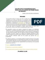 La Influencia Del Estilo de Enseñanza en El Desarrollo Integral de Los Alumnos de Primer Grado de Primaria. Anzures Karen