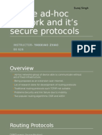 Mobile Ad-hoc Network and It's Secure Protocols