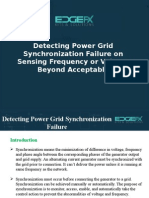 Detecting Power Grid Synchronization Failure on Sensing Frequency or Voltage Beyond Acceptable