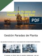 Gestión de Paradas de Planta y Calidad Total