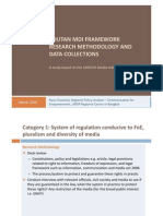 Bhutan MDI Framework Research Methodology and Data Collections