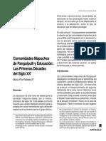Comunidades Mapuches de Panguipulli y Educación -Las Primeras Décadas Del Sogilo XX. Pís Poblete