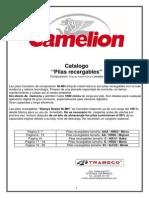 Catalogo Camelion Pilas Recargables Nimh